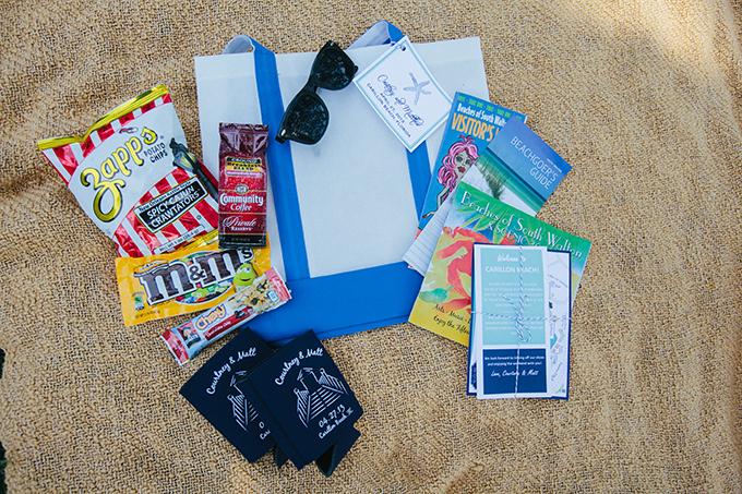 beach destination wedding welcome bags | pure7studios