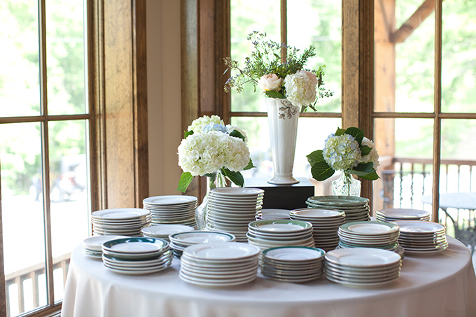 mis-matched green plates | Chesley Summar Photography