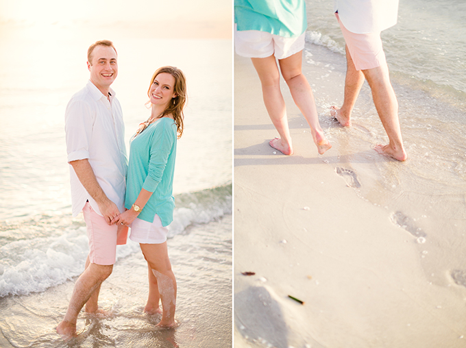 Florida sunset beach engagement | Hunter Ryan Photo