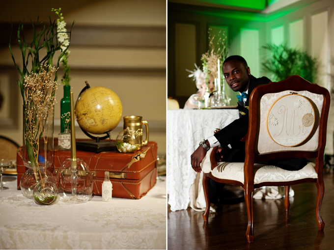 art deco emerald and gold wedding inspiration | Ellen Bucher Photography