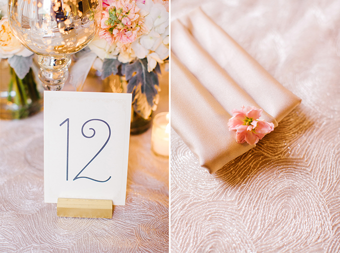 modern glam table numbers | Elaine Palladino Photography