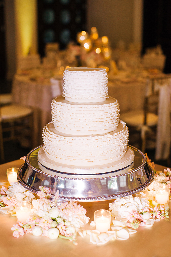 white ruffle wedding cake | Elaine Palladino Photography