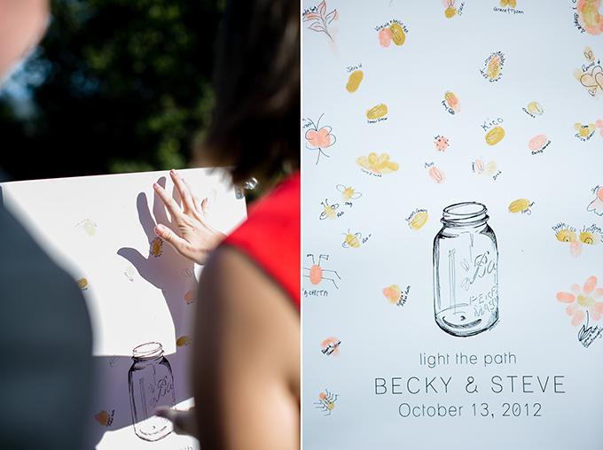 thumbprint guest book | Orbie Pullen Photography