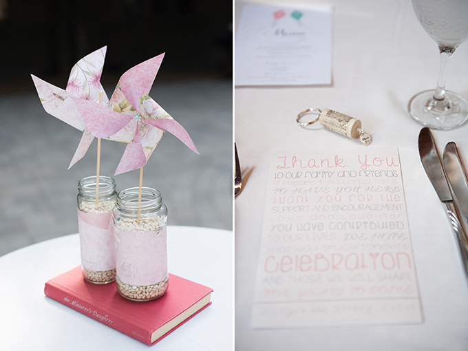 pastel book themed wedding | Lynne Reznick Photography