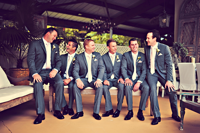 charcoal gray suits with blush ties | Tamiz Photography