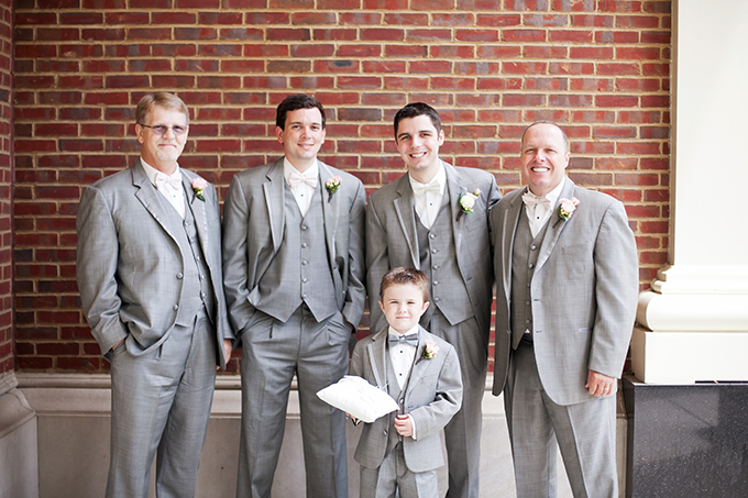 gray groomsmen   Jen & Chris Creed   Glamour & Grace
