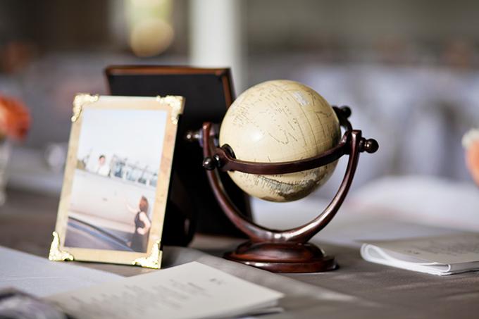 vintage travel centerpieces   Jen & Chris Creed   Glamour & Grace