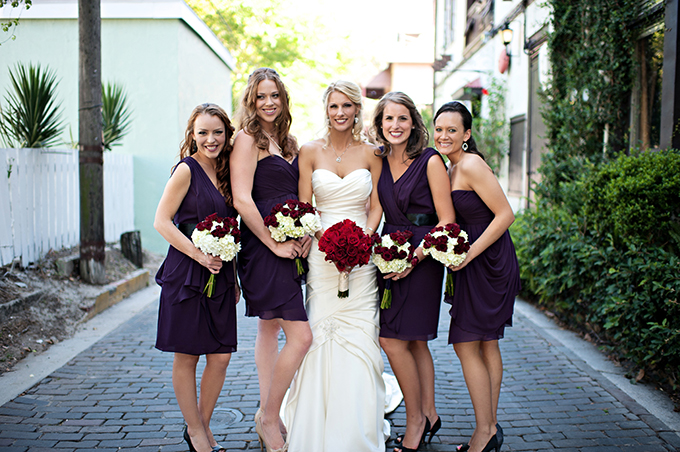 Rooftop Burgundy and Purple Wedding | Glamour & Grace