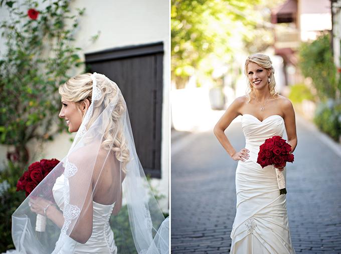 red bouquet | Kristen Weaver Photography | Glamour & Grace