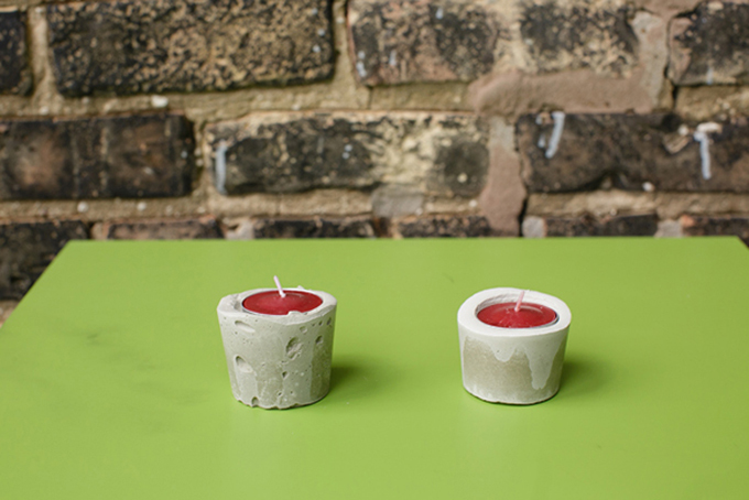 cement votive holders DIY | Shane Welch Photography | Glamour & Grace