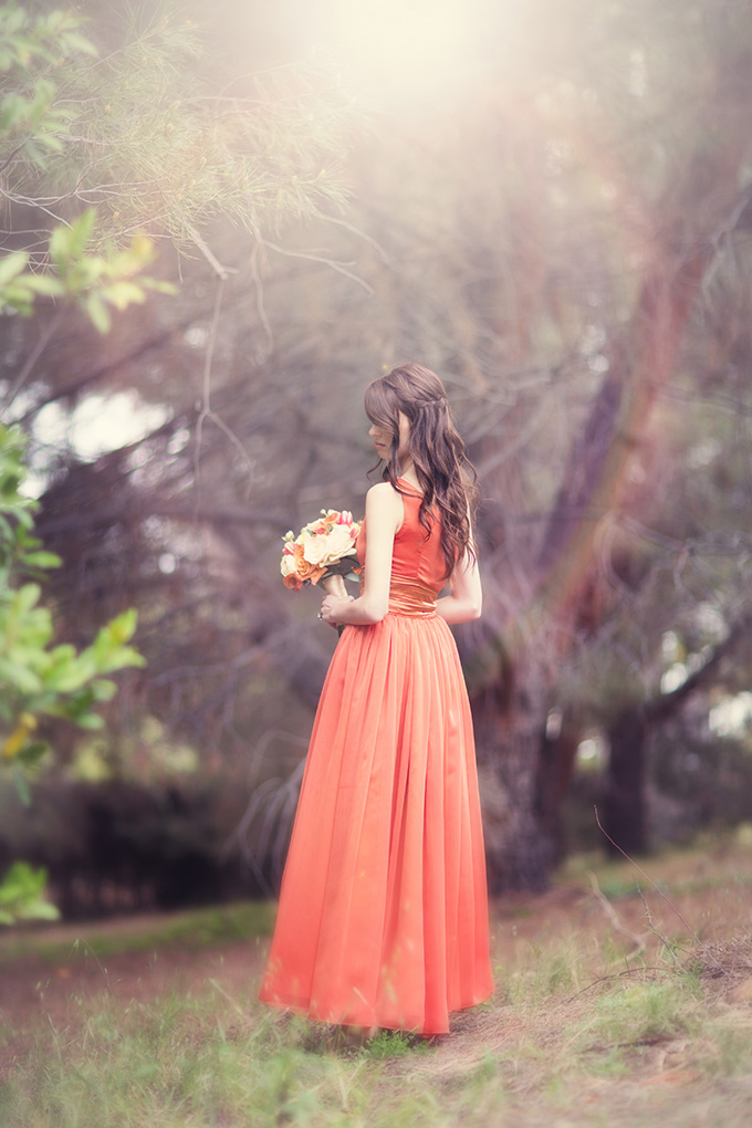 dreamy vintage orange dress | Christine Sara Photography | Glamour & Grace