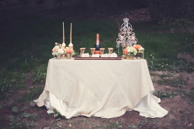 champagne table | Christine Sara Photography | Glamour & Grace