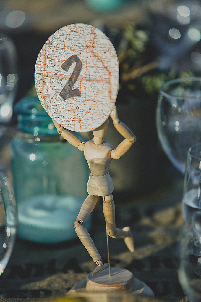 eclectic table numbers | wild{whim} design + photography | Glamour & Grace