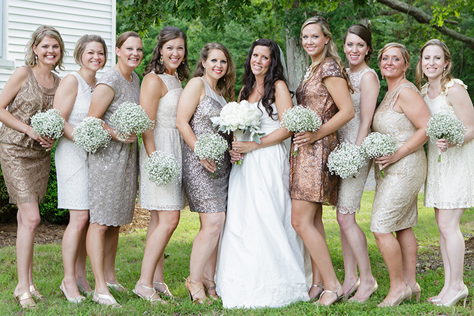 metallic bridesmaids | David Abel Photography | Glamour & Grace