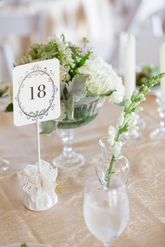 white centerpieces | David Abel Photography | Glamour & Grace