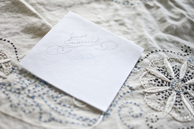 personalized napkins | Holly Cromer Photography | Glamour & Grace