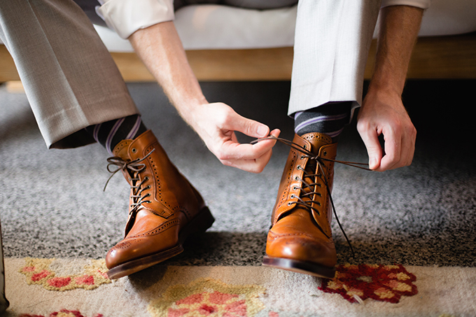 groom shoes | Clewell Photography | Glamour & Grace