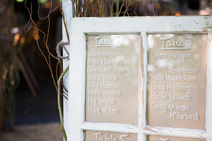 window pane table seating chart | Clewell Photography | Glamour & Grace