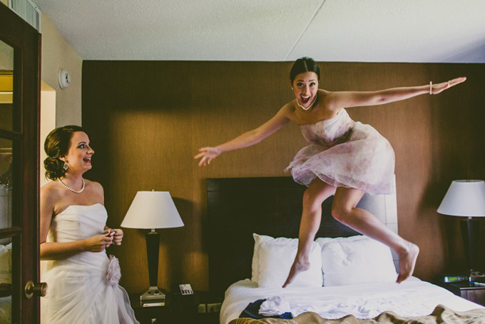 bridesmaid fun | Carolyn Scott Photography | Glamour & Grace