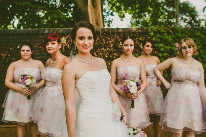 floral print bridesmaids | Carolyn Scott Photography | Glamour & Grace