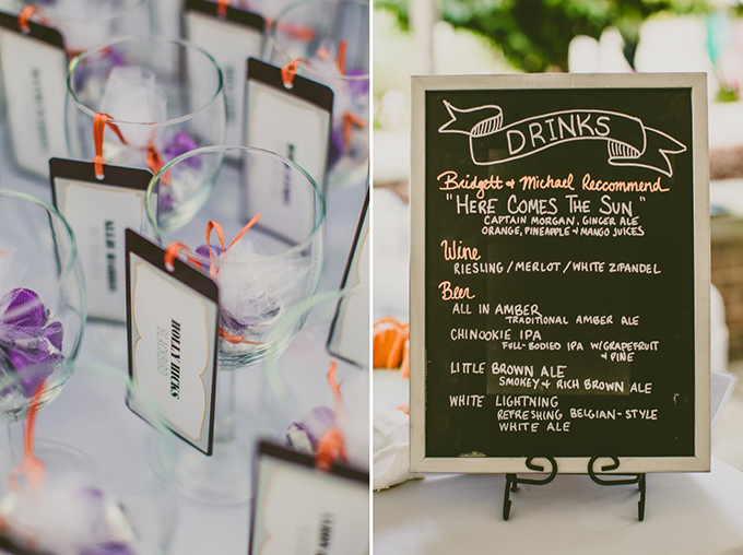 Beatles themed drinks | Carolyn Scott Photography | Glamour & Grace