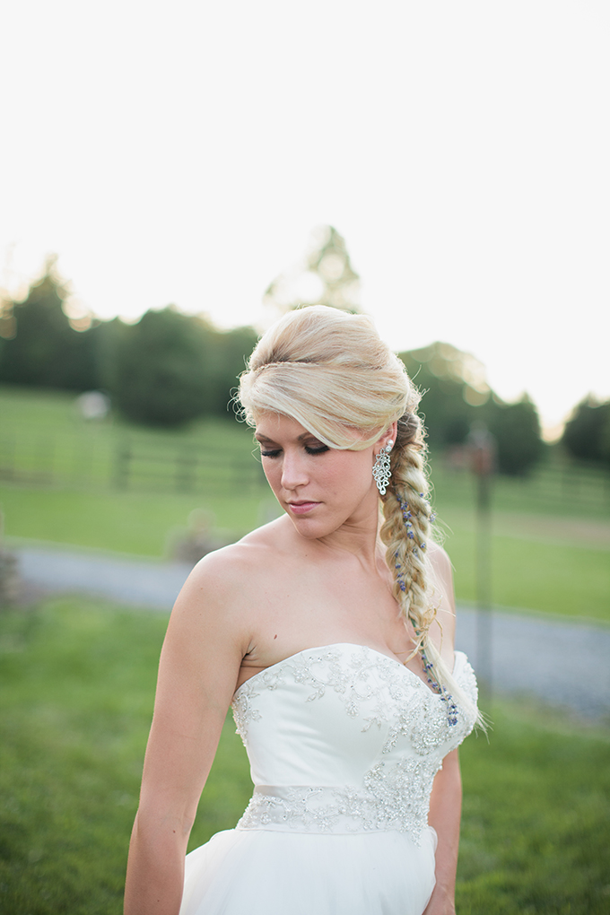 gorgeous lavender braid | Courtney Reese Photography | Glamour & Grace