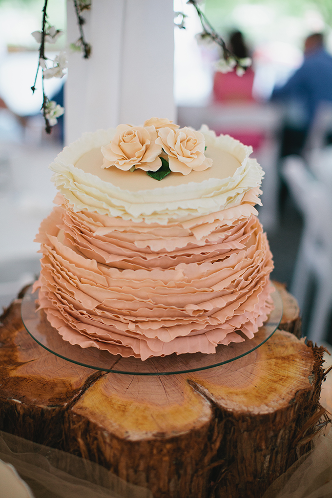 ruffle cake | Courtney Reese Photography | Glamour & Grace