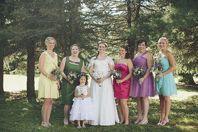 colorful bridesmaids | Brooke Courtney Photography | Glamour & Grace