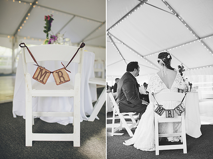 Mr & Mrs chair signs | Brooke Courtney Photography | Glamour & Grace