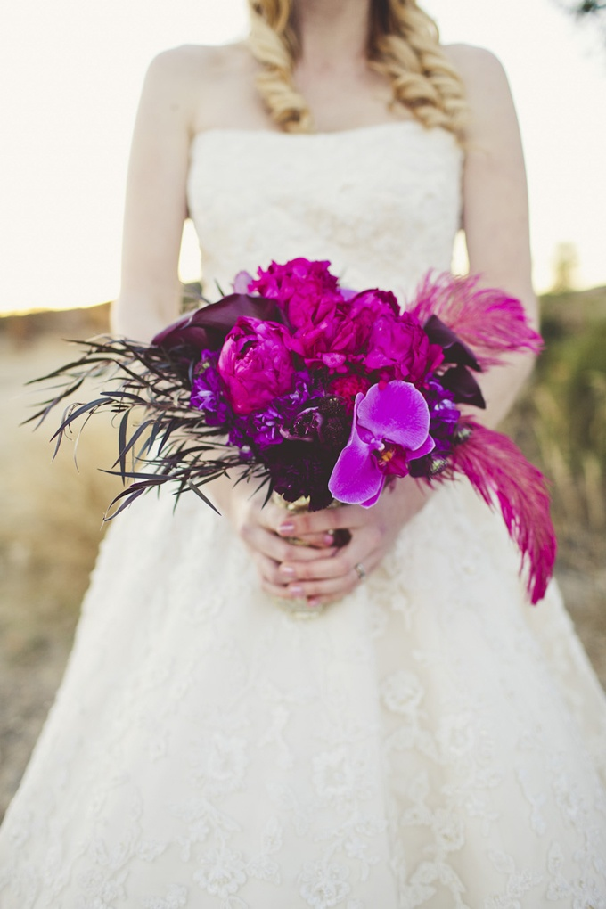 lush magenta bouquet from Noonan's Wine Country Designs | Sarah Kathleen | Glamour & Grace