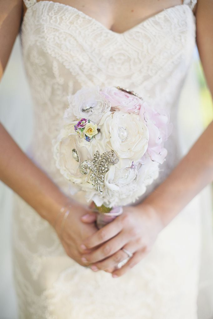handmade fabric bouquet | Sarah Bray Photography | Glamour & Grace