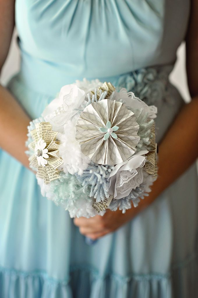 paper and yarn bouquet by Pretty and Sparkly Things | Kismis Ink Photography | Glamour & Grace