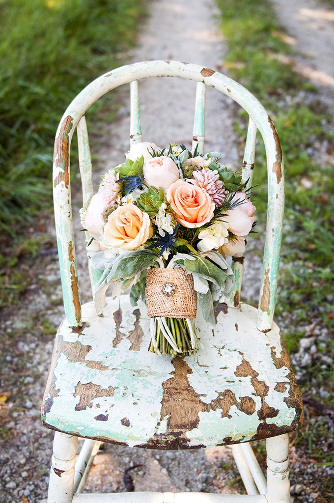 rustic bouquet by Floral V Designs | Ashley Lynn Photography | Glamour & Grace