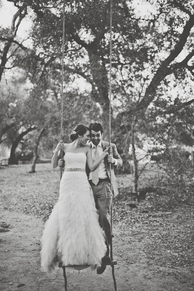 swing wedding portrait | Sarah Kathleen | Glamour & Grace