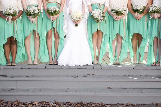 mint bridesmaids | Ashley Upchurch | Glamour & Grace
