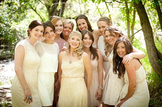 neutral bridesmaids | Ellen Jaskol | Glamour & Grace