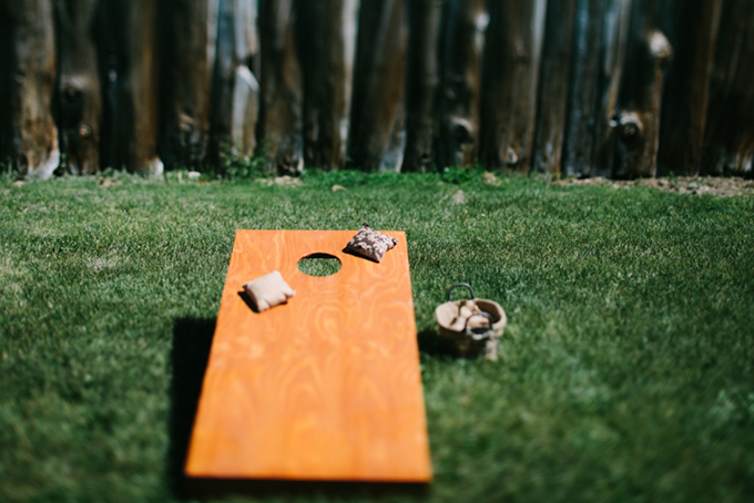 wedding cornhole | Joe+Kathrina | Glamour & Grace