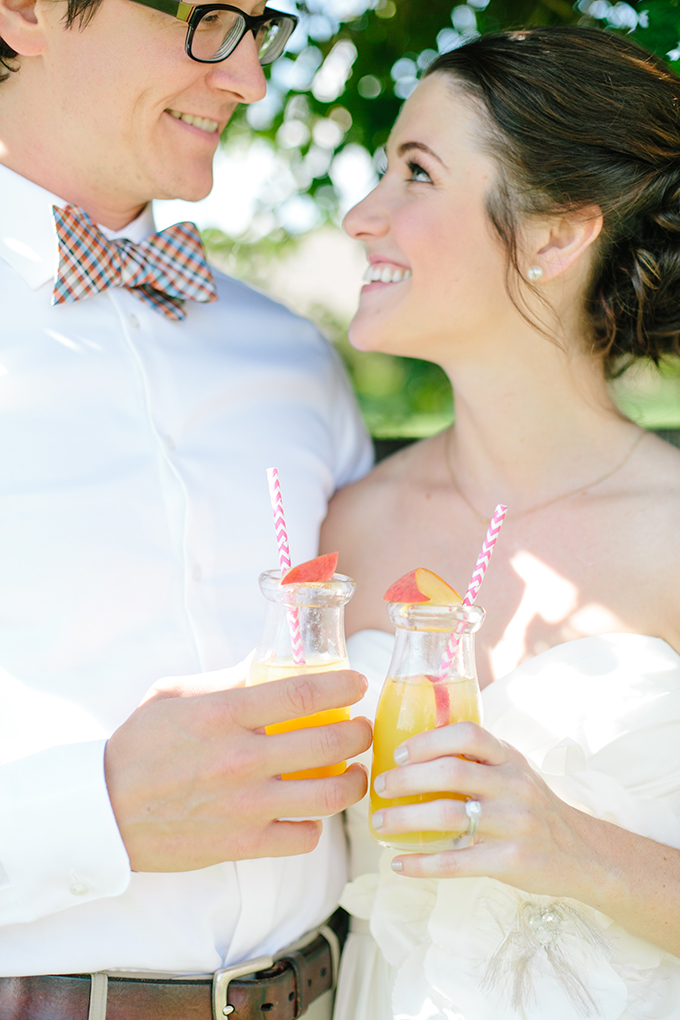 peach signature drinks | Amanda Watson Photography | Glamour & Grace