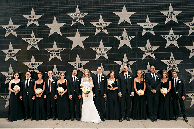classic black bridal party | Erin Johnson Photography | Glamour & Grace