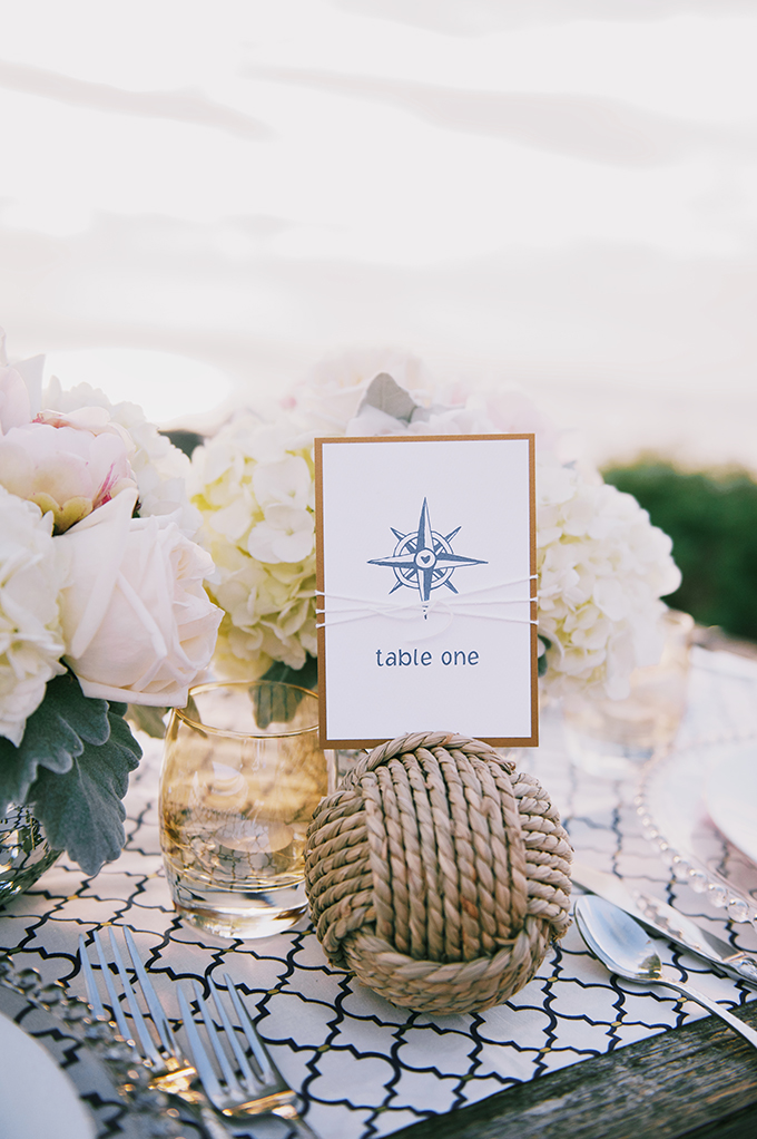 nautical table number | Simply Sonja Photography | Glamour & Grace
