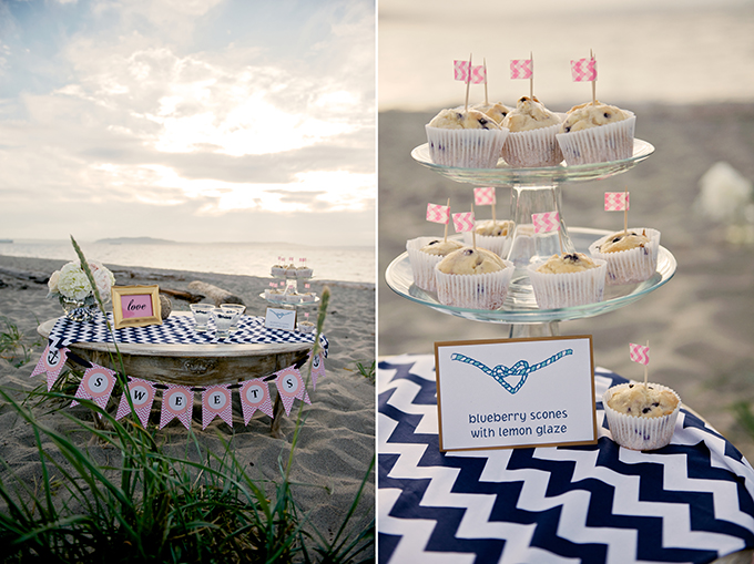 nautical dessert table | Simply Sonja Photography | Glamour & Grace