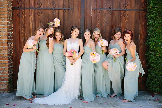 seafoam bridesmaids | Snapmotive | Glamour & Grace