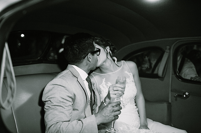 getaway car kiss | Snapmotive | Glamour & Grace