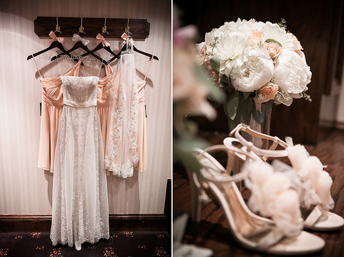 Peach Rustic Glam Wedding Glamour Amp Grace