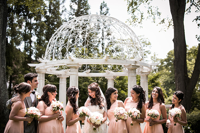 peach bridesmaids | Femina Photo + Design | Glamour & Grace