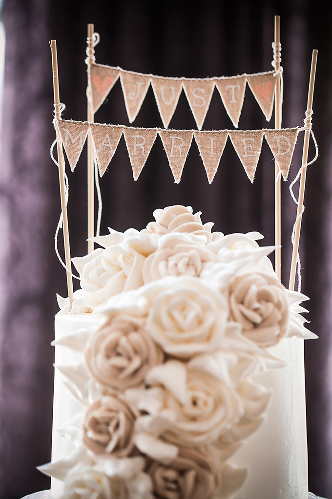 just married banner cake topper | Femina Photo + Design | Glamour & Grace