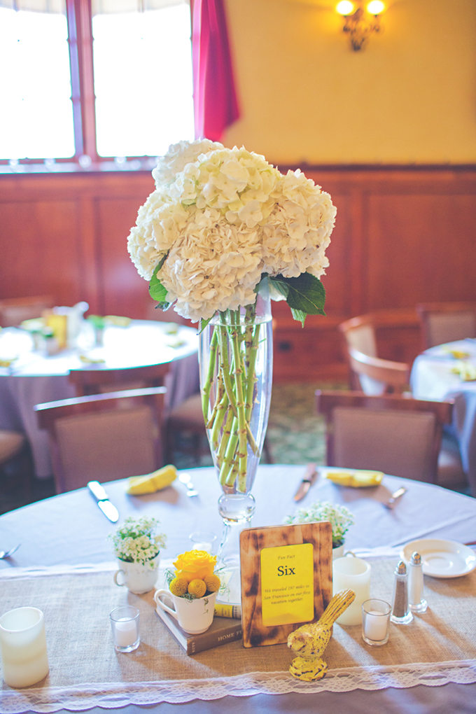 rustic yellow centerpieces | Lindsey Gomes Photography | Glamour & Grace
