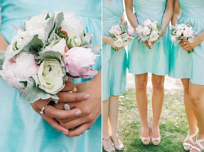 seafoam and peony bouquets | dear wesleyann | Glamour & Grace