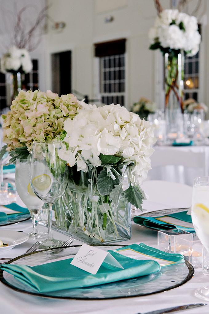 hydrandea centerpieces | dear wesleyann | Glamour & Grace