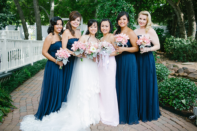 Light pink and navy blue wedding for Wedding pink and blue